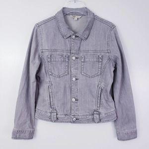 CAbi Grey Denim Jean Jacket Size Medium